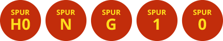 Spur H0, Spur N, Spur G, Spur 1, Spur 0